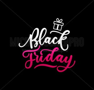 Black friday design concept with lettering on dark background. Vector illustration - Vector illustrations for everyone | Microstocker.Pro