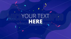 Congratulations design template with confetti for games, greeting cards, mobile applications etc - Vector illustrations for everyone | Microstocker.Pro