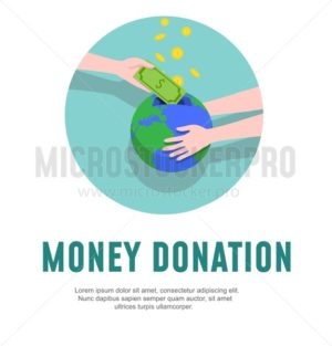 Money donation design template. Charity vector illustration - Vector illustrations for everyone | Microstocker.Pro