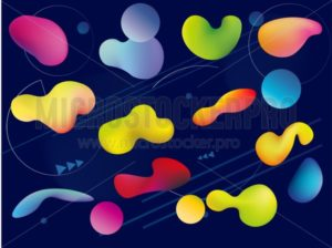 Set of futuristic abstract posters. Geometric abstract shapes backgrounds for mobile ui, web banners, posters etc. Vector illustration. - Vector illustrations for everyone   Microstocker.Pro