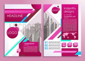 Business flyer or presentation stylish design template. Vector illustration for advertising, promo, presentations, reviews etc - Vector illustrations for everyone | Microstocker.Pro