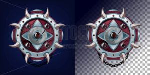 Weapon shield design for games, blogs etc. Vector game weapon - Vector illustrations for everyone | Microstocker.Pro