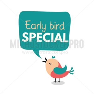 Early bird special flyer or banner design template. Early bird discount promotion. Vector illustration - Vector illustrations for everyone | Microstocker.Pro