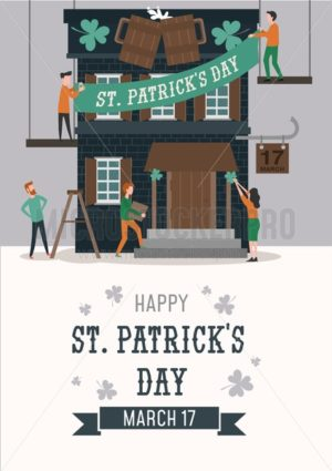 Happy Patrick's day illustration for banner, invitations,advertising etc. Happy Patrick's day vector poster. - Vector illustrations for everyone | Microstocker.Pro