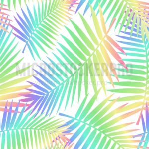Summer seamless pattern with tropical leaves. Colorful summer print for textile, cards, posters etc. Vector tropical illustration - Vector illustrations for everyone | Microstocker.Pro