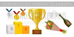 Trophy elements set - Vector illustrations for everyone | Microstocker.Pro