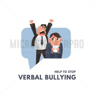 A bully in the workplace - Vector illustrations for everyone | Microstocker.Pro