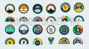 Speed signs and icons set - Vector illustrations for everyone | Microstocker.Pro