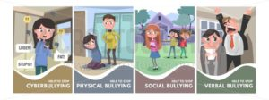 Stop bullying posters set - Vector illustrations for everyone | Microstocker.Pro