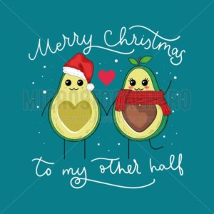 Avocado winter full of lovable feelings banner - Vector illustrations for everyone | Microstocker.Pro