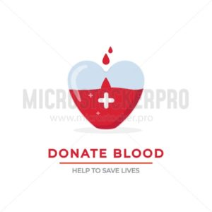 Blood donation poster - Vector illustrations for everyone | Microstocker.Pro