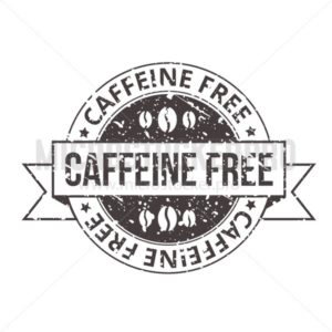 Caffeine free vintage tag with grunge effect - Vector illustrations for everyone | Microstocker.Pro