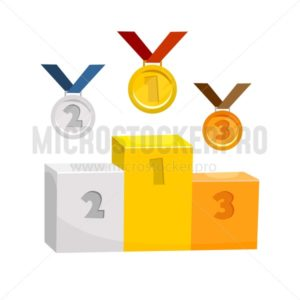 Competition trophy elements - Vector illustrations for everyone | Microstocker.Pro
