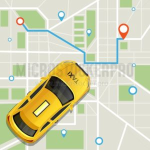 Convenient taxi service online application - Vector illustrations for everyone | Microstocker.Pro