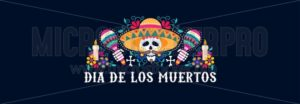 Dia de los muertos greeting card festive design - Vector illustrations for everyone | Microstocker.Pro