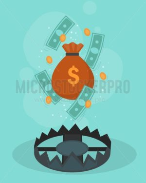 Financial crisis design poster - Vector illustrations for everyone | Microstocker.Pro