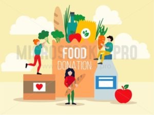 Food donation design - Vector illustrations for everyone | Microstocker.Pro