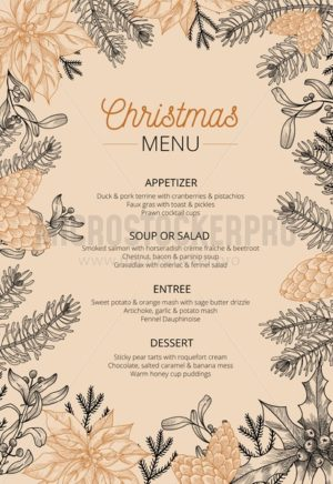 Food restaurant cuisine menu template - Vector illustrations for everyone | Microstocker.Pro