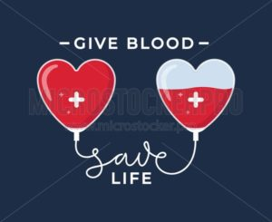 Give blood save life poster - Vector illustrations for everyone | Microstocker.Pro