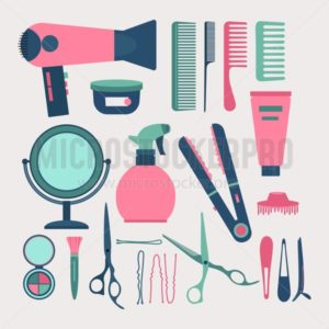 Hairdresser elements set - Vector illustrations for everyone | Microstocker.Pro