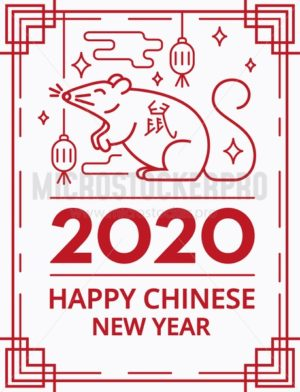 Happy chinese new year festive greeting card - Vector illustrations for everyone | Microstocker.Pro