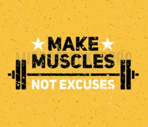 Hard and strong pumping gym flyer banner - Vector illustrations for everyone | Microstocker.Pro