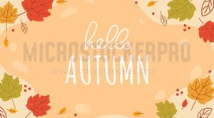Hello autumn lettering - Vector illustrations for everyone | Microstocker.Pro