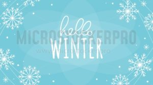 Hello winter greeting card - Vector illustrations for everyone | Microstocker.Pro