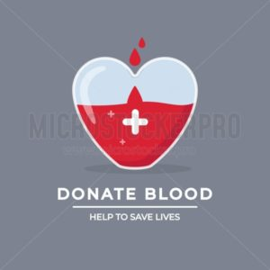 Help to save lives design poster - Vector illustrations for everyone | Microstocker.Pro