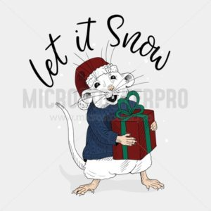 Let it snow festive christmas winter card - Vector illustrations for everyone | Microstocker.Pro