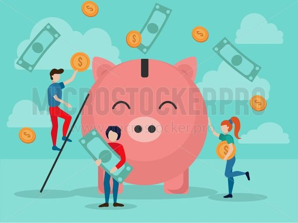 Money donation poster - Vector illustrations for everyone | Microstocker.Pro