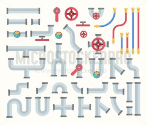 Pipe constructor set - Vector illustrations for everyone | Microstocker.Pro