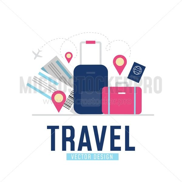 Time to travel poster - Vector illustrations for everyone | Microstocker.Pro