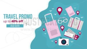 Travel promo banner - Vector illustrations for everyone | Microstocker.Pro