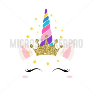 Unicorn queen card - Vector illustrations for everyone | Microstocker.Pro
