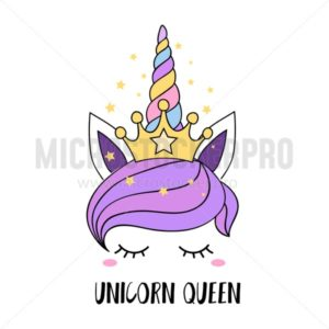 Unicorn queen inspiration card - Vector illustrations for everyone | Microstocker.Pro