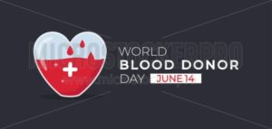 World blood donor day 14 june banner - Vector illustrations for everyone | Microstocker.Pro