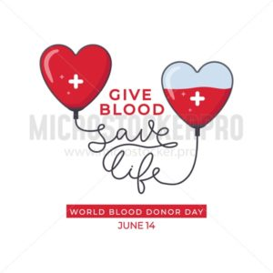 World blood donor day design poster - Vector illustrations for everyone | Microstocker.Pro