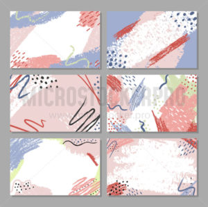 Abstract backgrounds set with minimal textures - Vector illustrations for everyone | Microstocker.Pro