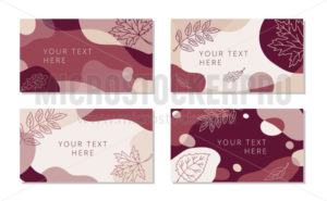 Abstract seasonal backgrounds with place for text set - Vector illustrations for everyone | Microstocker.Pro
