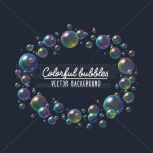 Colorful festive soap bubbles vector background - Vector illustrations for everyone | Microstocker.Pro