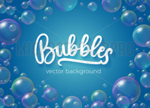 Festive bubbles with rainbow reflection - Vector illustrations for everyone | Microstocker.Pro