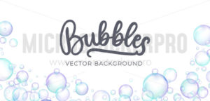Festive iridescent foam bubbles with rainbow reflection - Vector illustrations for everyone | Microstocker.Pro