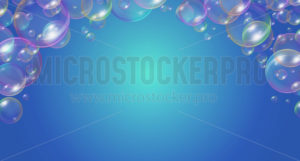 Festive soap bubbles frame festive design - Vector illustrations for everyone | Microstocker.Pro