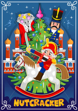 Nutcracker Christmas card or winter holiday invitation - Vector illustrations for everyone | Microstocker.Pro