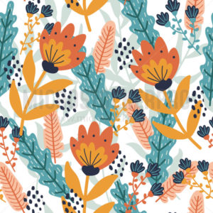Summer floral seamless pattern colorful flowers - Vector illustrations for everyone | Microstocker.Pro