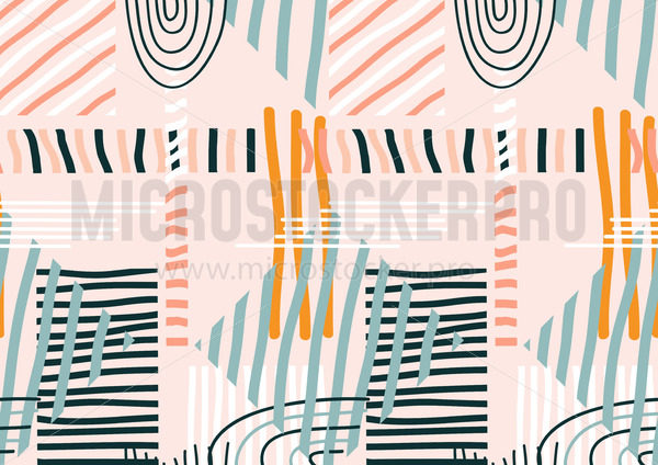 Abstract creative design seamless pattern - Vector illustrations for everyone   Microstocker.Pro