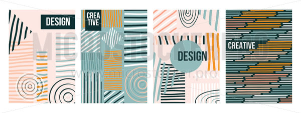 Abstract trendy creative design collection - Vector illustrations for everyone | Microstocker.Pro