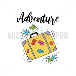 Bright adventure summer travel card or print - Vector illustrations for everyone | Microstocker.Pro