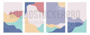 Collection of abstract pastel colours background - Vector illustrations for everyone | Microstocker.Pro